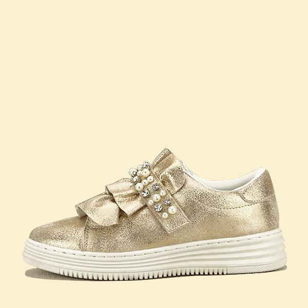 Sneakers auriu cu perle Gloria [0]