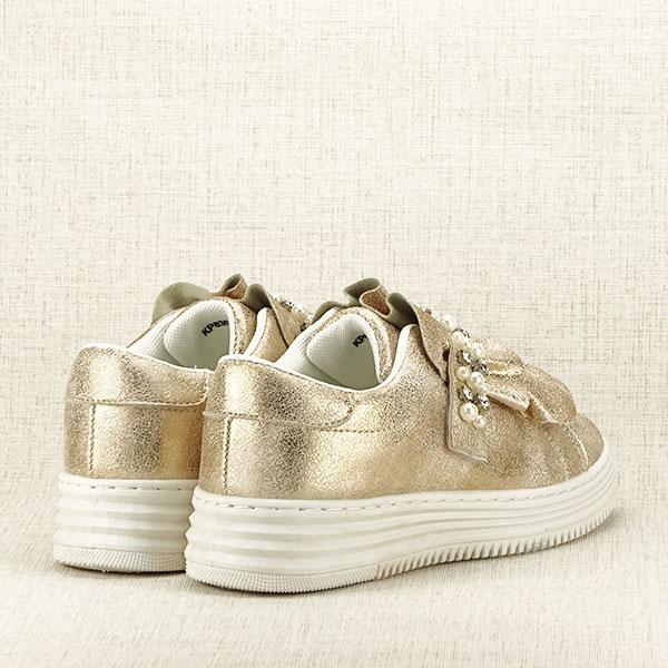 Sneakers auriu cu perle Gloria [4]
