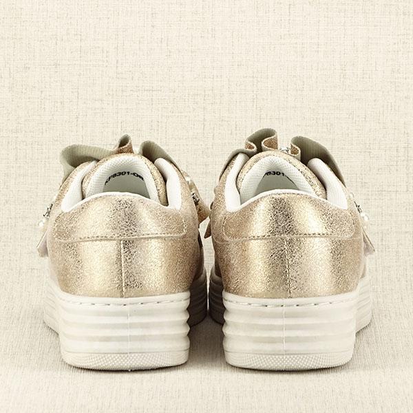 Sneakers auriu cu perle Gloria [6]