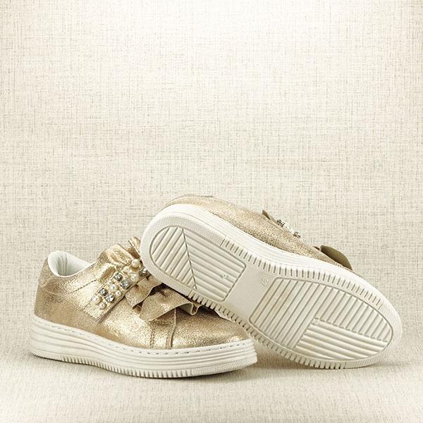 Sneakers auriu cu perle Gloria [7]