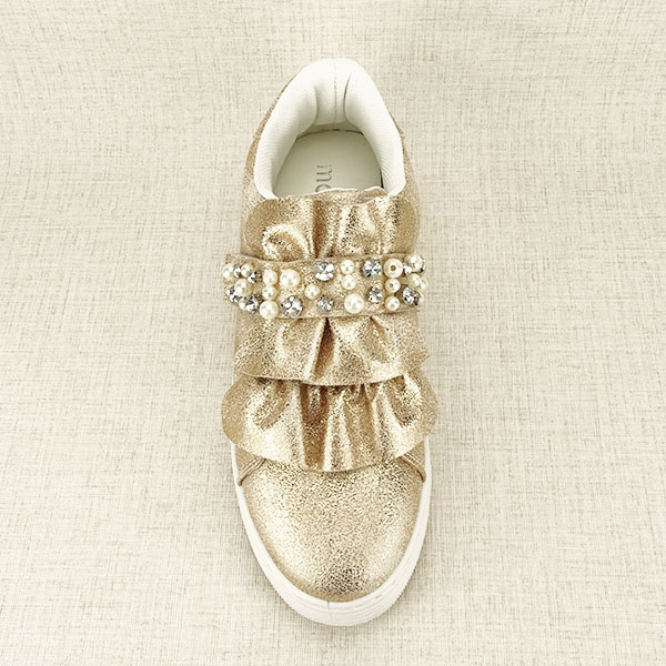 Sneakers auriu cu perle Gloria [1]