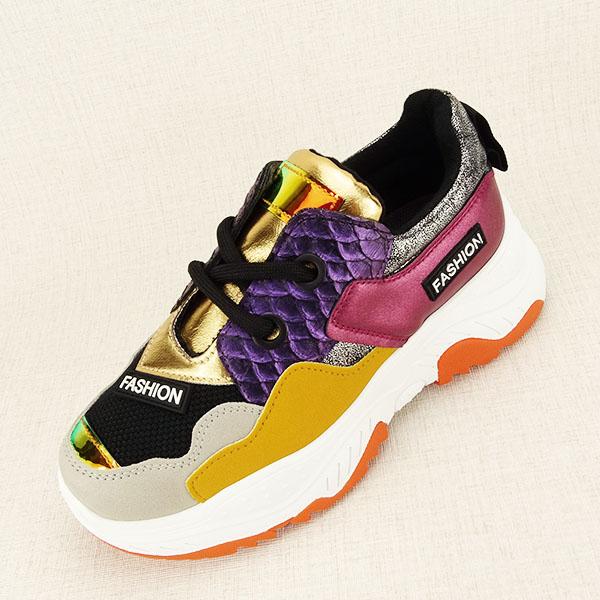 Sneakers auriu Valeria [1]