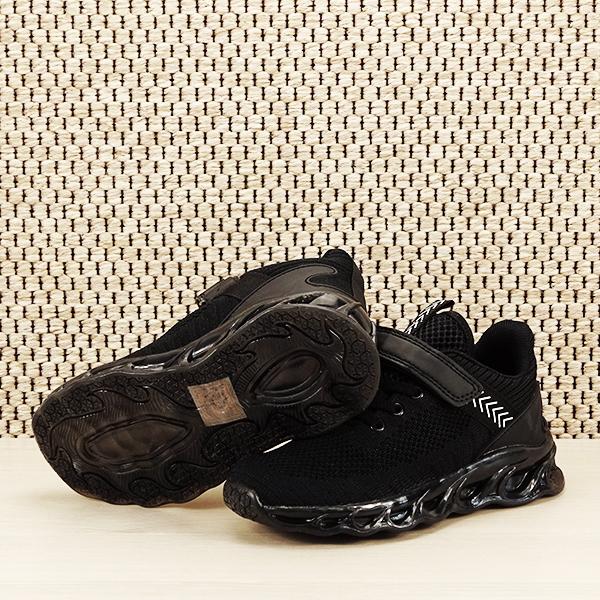 Sneakers copii cu leduri negru Kim [7]