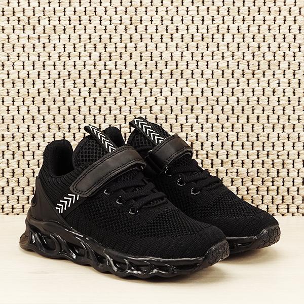 Sneakers copii cu leduri negru Kim [3]
