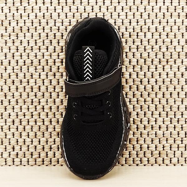 Sneakers copii cu leduri negru Kim [6]