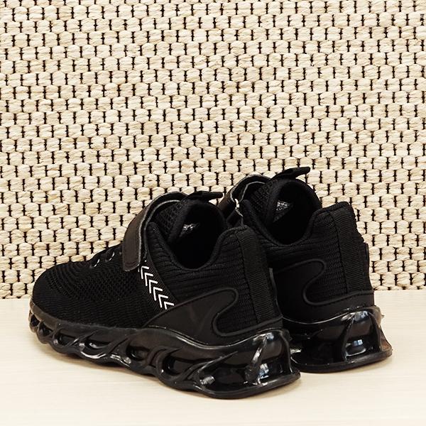Sneakers copii cu leduri negru Kim [4]