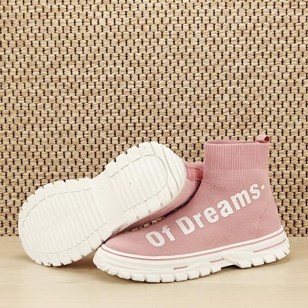 Sneakers copii roz tip soseta Dream [7]
