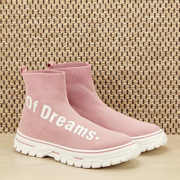 Sneakers copii roz tip soseta Dream [2]