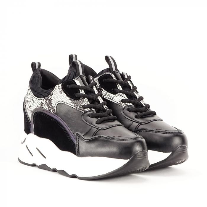 Sneakers negri High-Top Leslie 4