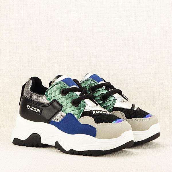 Sneakers negru Valeria 3