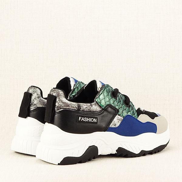 Sneakers negru Valeria 4