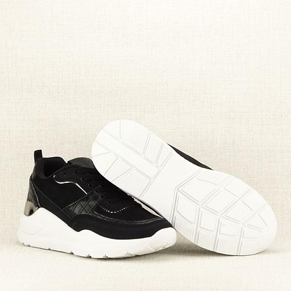 Sneakers negru cu imprimeu Georgia [7]