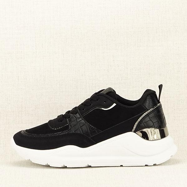 Sneakers negru cu imprimeu Georgia [0]