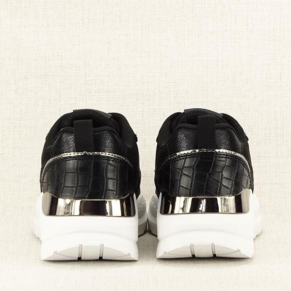 Sneakers negru cu imprimeu Georgia [6]