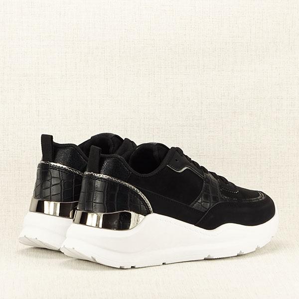 Sneakers negru cu imprimeu Georgia [4]