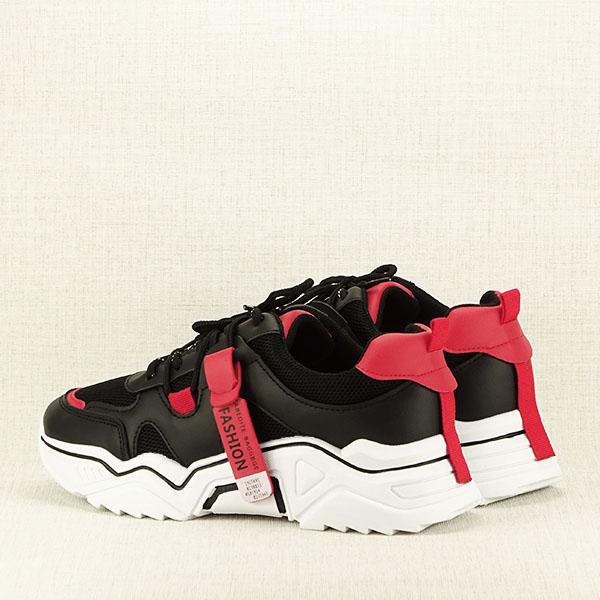 Sneakers negri cu rosu Ioana [4]