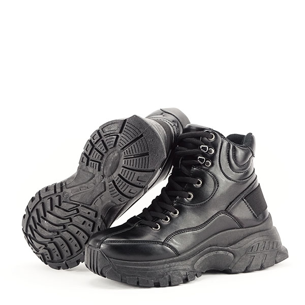Sneakers negri cu talpa groasa Betty 7