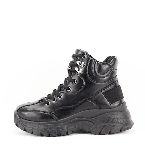 Sneakers negri cu talpa groasa Betty 0