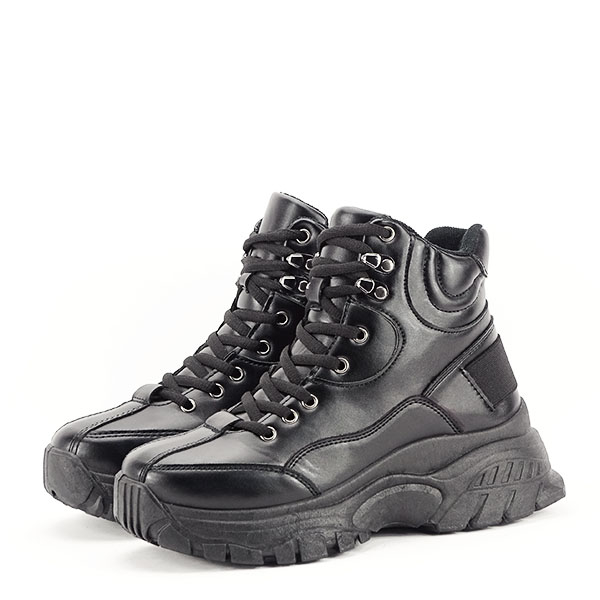 Sneakers negri cu talpa groasa Betty 1