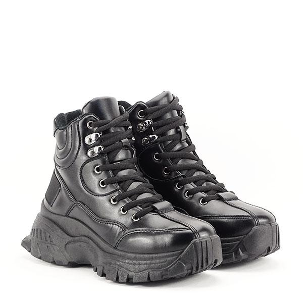 Sneakers negri cu talpa groasa Betty 2