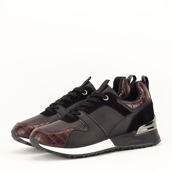 Sneakers negru cu imprimeu Linda [2]