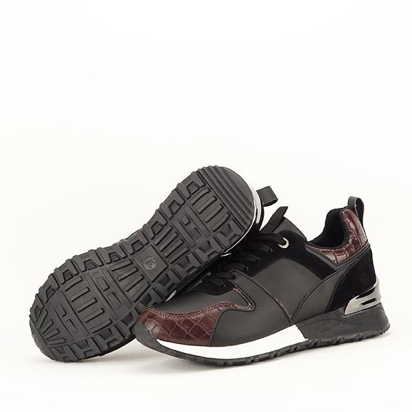 Sneakers negru cu imprimeu Linda [7]