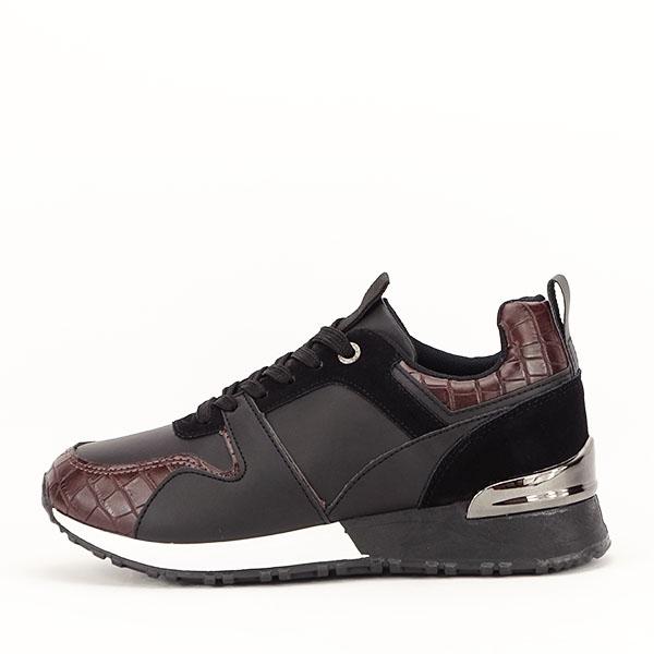 Sneakers negru cu imprimeu Linda [0]