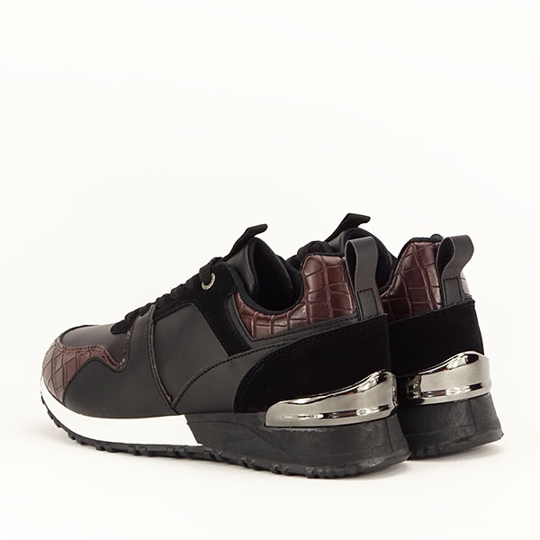 Sneakers negru cu imprimeu Linda [4]