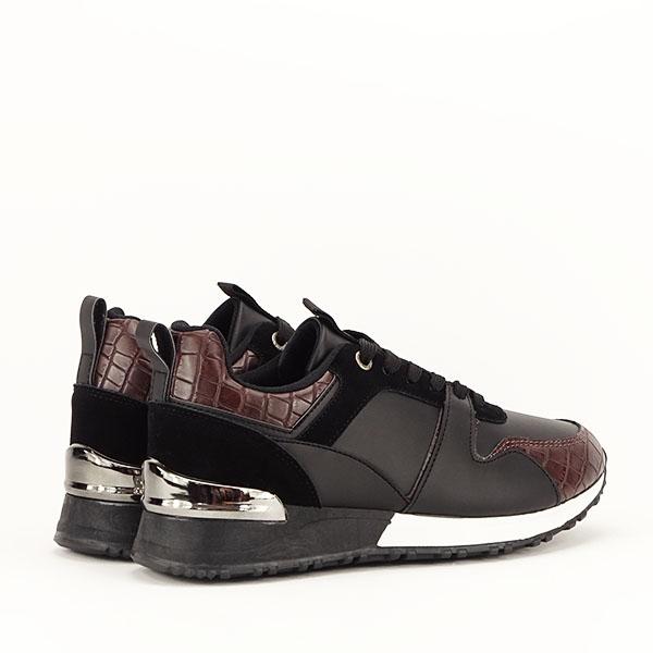 Sneakers negru cu imprimeu Linda [5]
