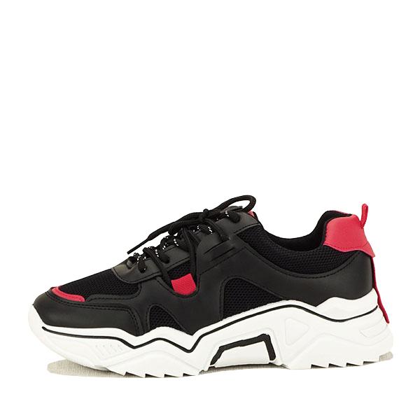 Sneakers negri cu rosu Ioana [0]