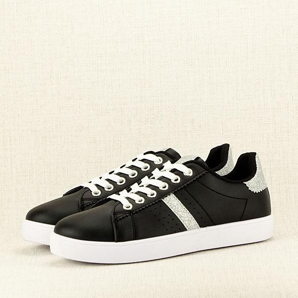 Sneakers negru cu sclipici Betina 2