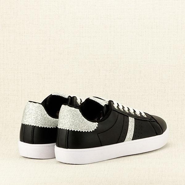 Sneakers negru cu sclipici Betina 4