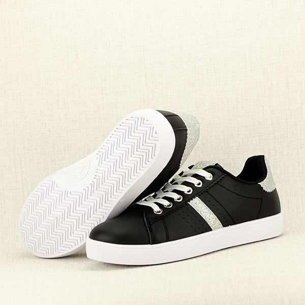 Sneakers negru cu sclipici Betina 7