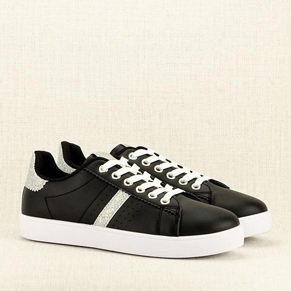 Sneakers negru cu sclipici Betina 3