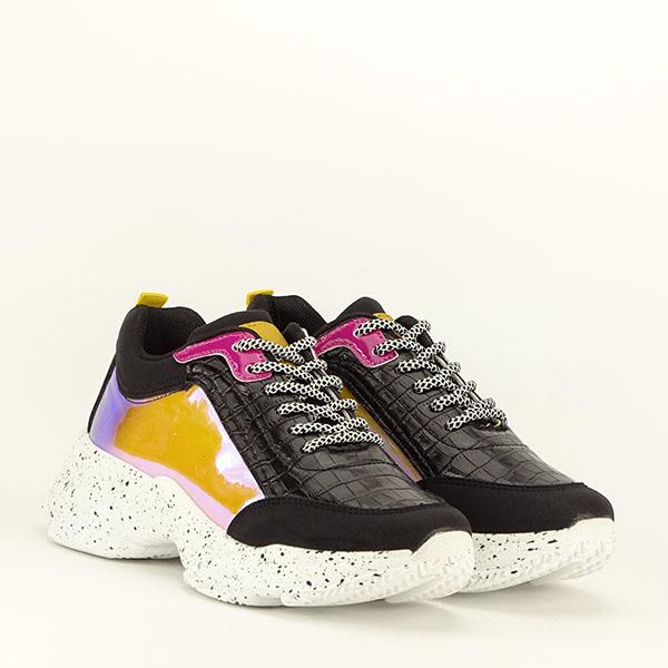 Sneakers negru Daiana 3