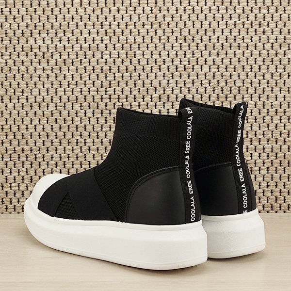 Sneakers negru tip soseta Havana [3]