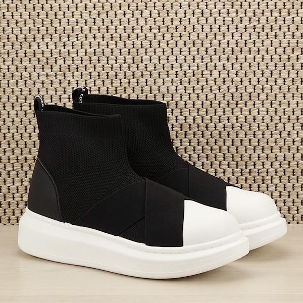 Sneakers negru tip soseta Havana [2]