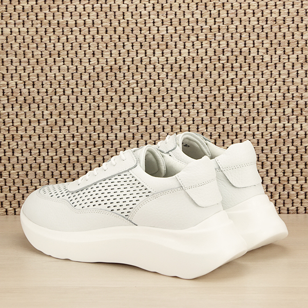 Sneakers piele naturala Aniela alb [3]
