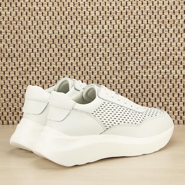 Sneakers piele naturala Aniela alb [4]