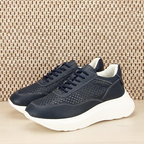 Sneakers piele naturala Aniela bleumarin [0]