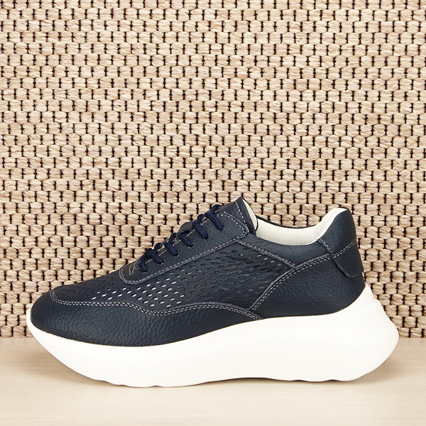 Sneakers piele naturala Aniela bleumarin [1]