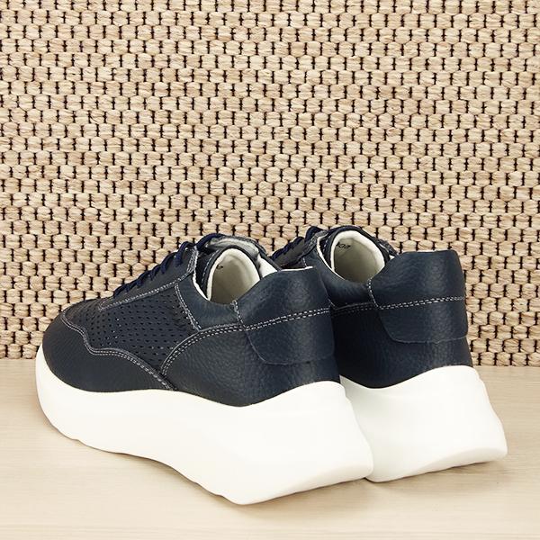 Sneakers piele naturala Aniela bleumarin [3]