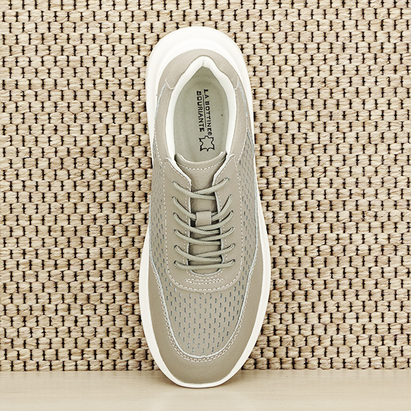 Sneakers piele naturala Aniela gri [5]