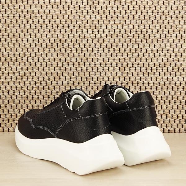 Sneakers piele naturala Aniela negru [3]
