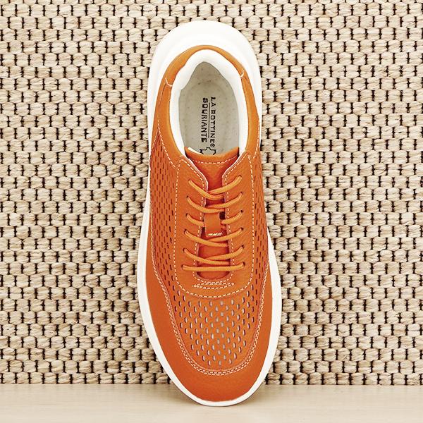 Sneakers piele naturala Aniela portocaliu [6]