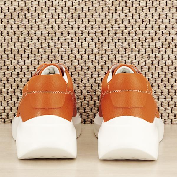 Sneakers piele naturala Aniela portocaliu [5]