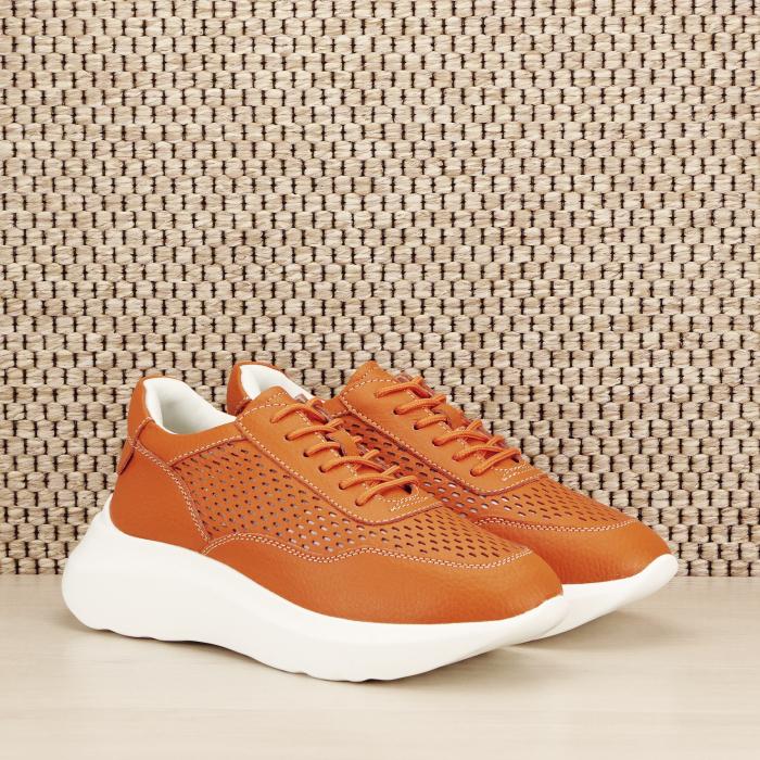 Sneakers piele naturala Aniela portocaliu [2]