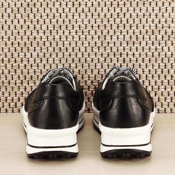 Sneakers piele naturala negru, perforat, Corina [5]