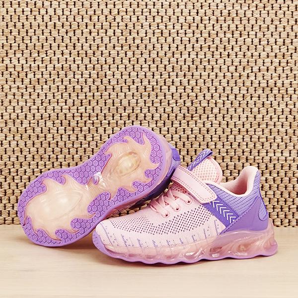 Sneakers copii cu leduri Kim roz cu mov [6]