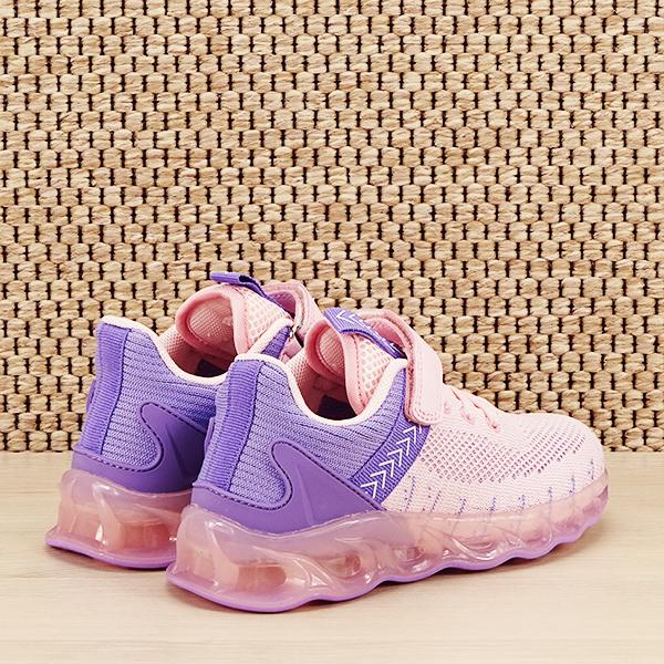 Sneakers copii cu leduri Kim roz cu mov [4]